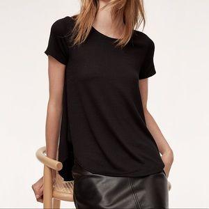 Wilfred Free Esther Black Basic Curved Hem T-Shirt